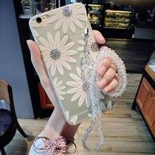 Для iPhone 7 6 s 6 Плюс 7 Плюс красочные Цветы Диаманта bling горный хрусталь Ясно Мягкий Чехол TPU Для iPhone 7 Чехол для iphone 7 плюс