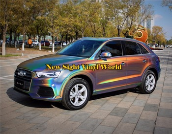 Various Color Psychedelic Flip Gloss Vinyl Wrap Foil Whole Luxury Car Wrap Film Bubble Free For Car Decal 1.52*18M/Roll
