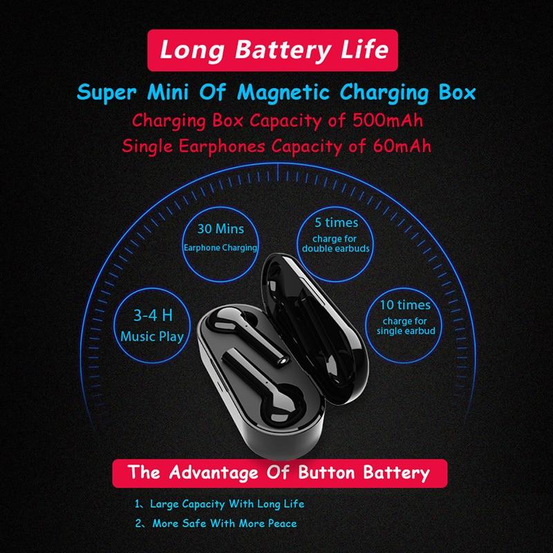d6cc37ae0c7 Auriculares Bluetooth inalámbricos DFOI FreeBud 5,0 auriculares inalámbricos  auténticos auriculares estéreo Bluetooth para iphones xiaomi samsung en ...