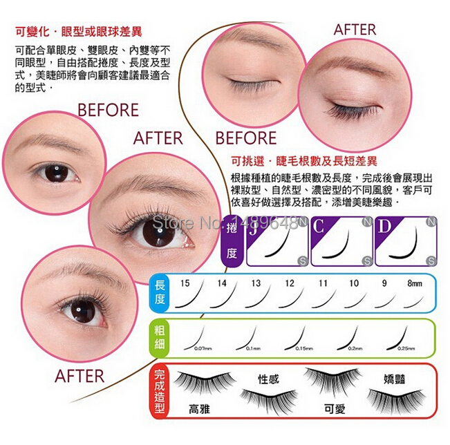 010Thickness B CurlSilk Individual Eyelash Extensions Mix Length Trays In False Eyelashes From Beauty Health On Aliexpress