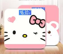 Electronic Weighing Scale Dormitory Small Cute Body Scale Girls Household Precision Adult Weight Loss Portable free shipping