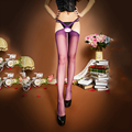 1 Pair Women Girls Sexy Top Stay Up Thigh-Highs Stockings Tights Intimates Accessories