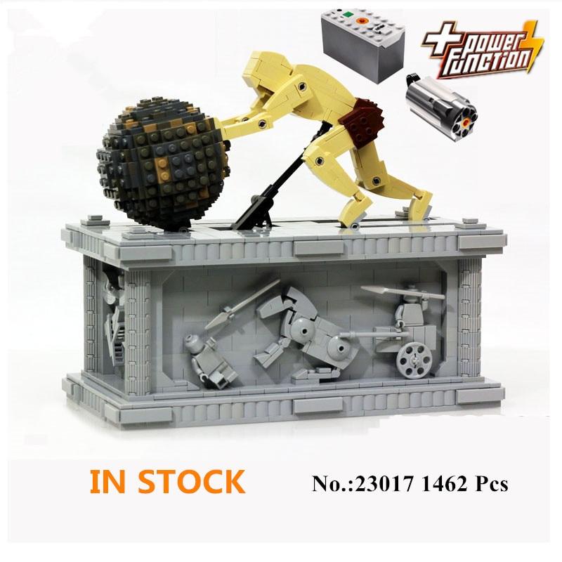 H&HXY In-Stock 23017 1462Pcs Genuine Technic Series The MOC Sisyphus Moving Set 1518 LEPIN Building Blocks Bricks Toys