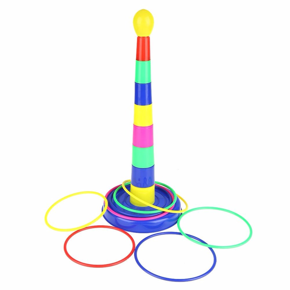 2018 Outdoor Sports Toys Colorful Hoopla Piling Ring Separable Throw Circle Sport Games Sport Toys For Children Kid Indoor Toys