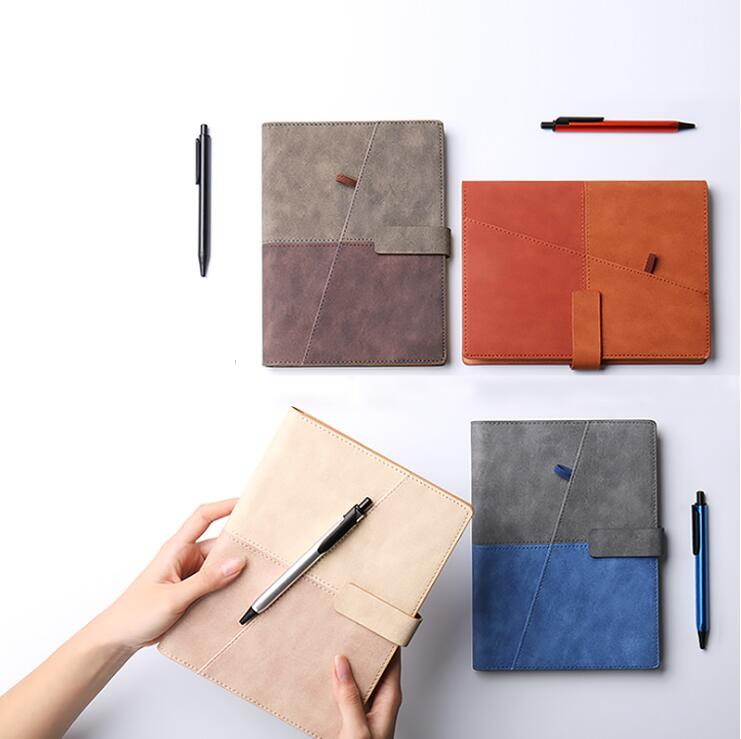 Vintage A5 Notebook Diary Loose leaf Business Office Spiral Paper PU Binder 6 Rings Gift School Supplies Colorful Matte Planner a6 loose leaf binder notebook leather business lockable writing pads office school supplies logo name customized diary gift