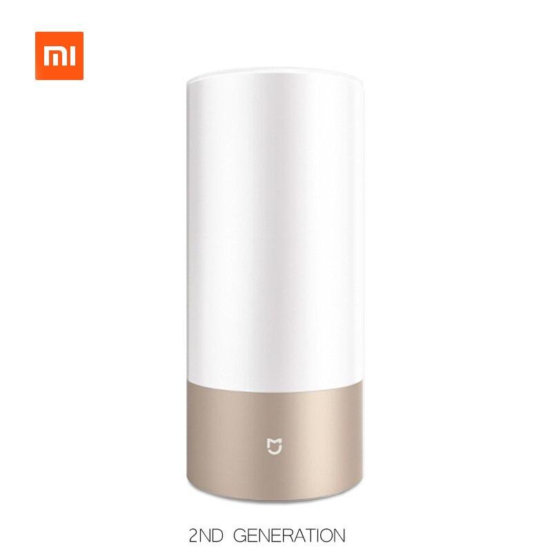 Xiaomi Yeelight прикроватная лампа 2 Wifi Bluetooth двойной пульт дистанционного управления смарт светодио дный светодиодный настольный цилиндр лампа с...