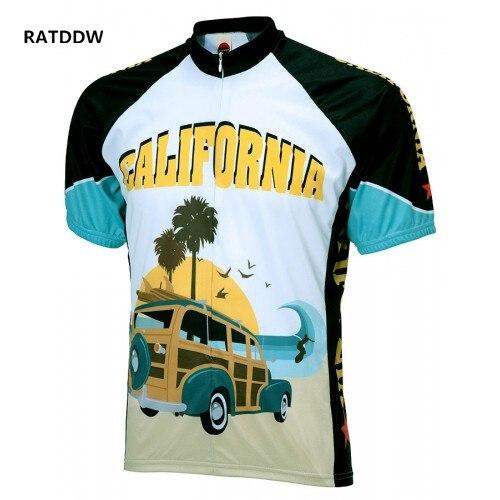캘리포니아 사이클링 저지 의류 마이애미 로파 드 Ciclismo 사이클링 Bicicletas 자전거 저지 자전거 의류 파란색