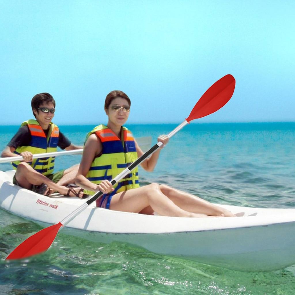 Kayak Canoe Paddles Water skiing Rowing Boat Paddle Red Portable Boat Aluminium Split Shaft Paddle For Boats Water Rafting 220cm