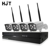 HJT 4CH Wireless 720P Wifi IP Camera System 8CH NVR Record Video CCTV Surveillance Security Cameras Kit Onvif P2P H.264 Outdoor
