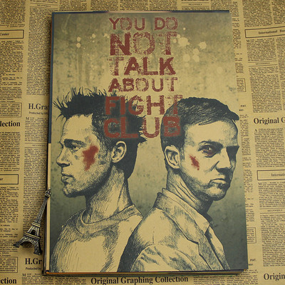 Fight club Movie Brad Pitt Edward Harrison Norton Vintage Paper Posters Retro art Wall Decoration