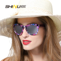 New Fashion Designer SHINU Brand Sunglasses Women Vintage Revo Sunglasses Acetate Frame Mirror Coating Glasses Gafas De Sol