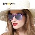 Nuevo Diseñador de Moda SHINU Marca Gafas de Sol Vintage Mujer gafas de Sol Revo Capa de Espejo Gafas De Sol gafas de Marco De Acetato