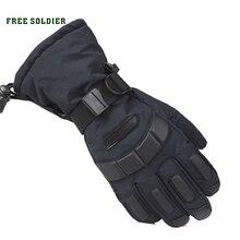 Hiking&camping sheep soldier thicken non-slip glove ski gloves waterproof leather men