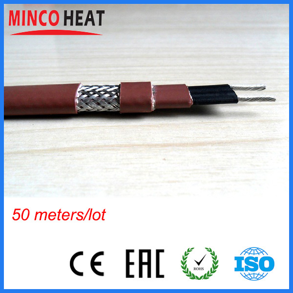 UV Resist Jacket Tinned Copper Shielded Pipe Freeze Protection Self Regulating Heating Cable