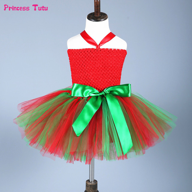 6aba89d20 Baby Girls Christmas Party Dress Kids Clothes Red,Green Fancy Tutu Dress  Children Xmas Merry Christmas Wizard Elf Dress Costumes