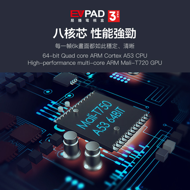 2019 Evpad3 MAX Evpad 3MAX new version 3G DDR3+ 32G EMMC 8 Core HDMI 2 0 4K  1080P Bluetooth Android TV Box with free gift