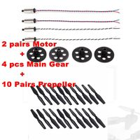 10 Pairs Propeller CW CCW & 2 pairs Motor & 4pcs Main Gear for VISUO XS809W XS809HW FPV Drone RC Quadcopter RC Part Combo Set