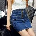 Sexy 2017 plus size high waist denim elastic slim hip short skirt clothing clothes for female women girls clothing