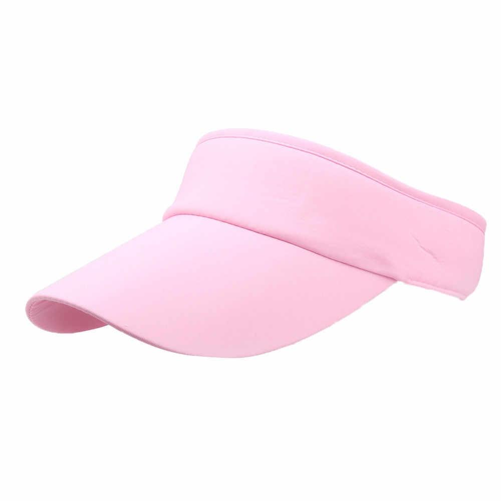最新の男性女性夏最高帽子スポーツ骨バイザーテニスキャップ野球帽子ランニング帽子屋外ビーチスポーツスナップバック