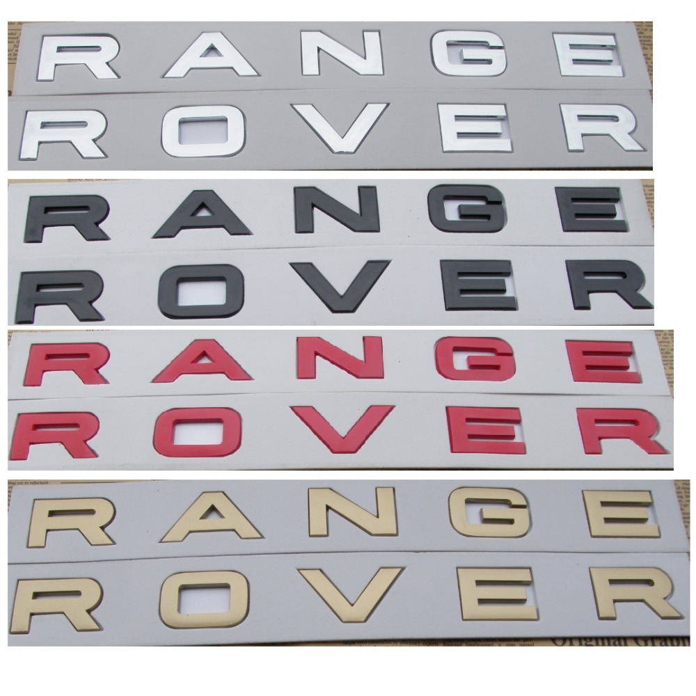 Number Letters Word  RANGE ROVER  Car Trunk Badge Emblem Badges Emblems for Land Rover Range Rover
