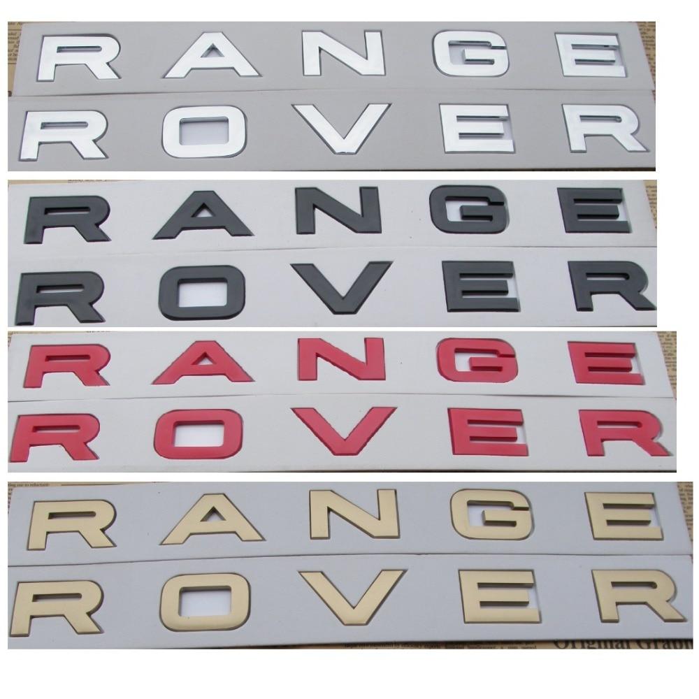 Numero di Lettere Parola RANGE ROVER Distintivi e Simboli Bagagliaio Dellemblema del Distintivo Emblemi per Land Rover Range RoverNumero di Lettere Parola RANGE ROVER Distintivi e Simboli Bagagliaio Dellemblema del Distintivo Emblemi per Land Rover Range Rover