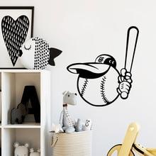 лучшая цена Beauty baseball Pvc House Decoration Wall Stickers Wall Art Paper For Kids Rooms Decor Wall Stickers Living Room Waterproof