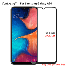 For Samsung Galaxy A20 Glass SM-A205F Screen Protector Full Glue Cover Film For Galaxy A20 Glass for Galaxy A20 Glass Film все цены