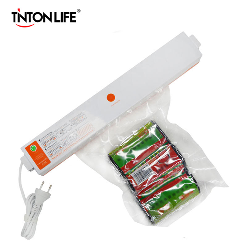 Fast Shipping 220V Household Food Vacuum Sealer Packaging Machine Film Sealer Vacuum Packer Including 15Pcs Bags Free