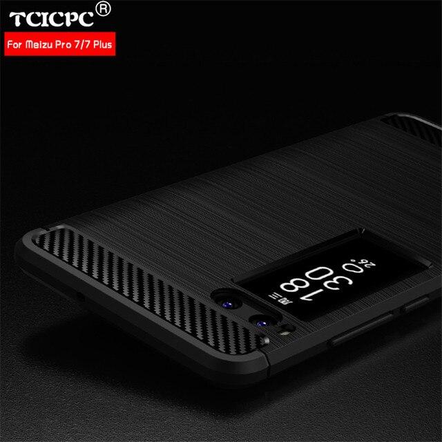 Tcicpc чехол для Meizu Pro 7 Чехол Оригинальный Роскошный ультра тонкий углерода Волокна Мягкие силиконовые ТПУ Обложка для Meizu pro 7 Plus Pro7