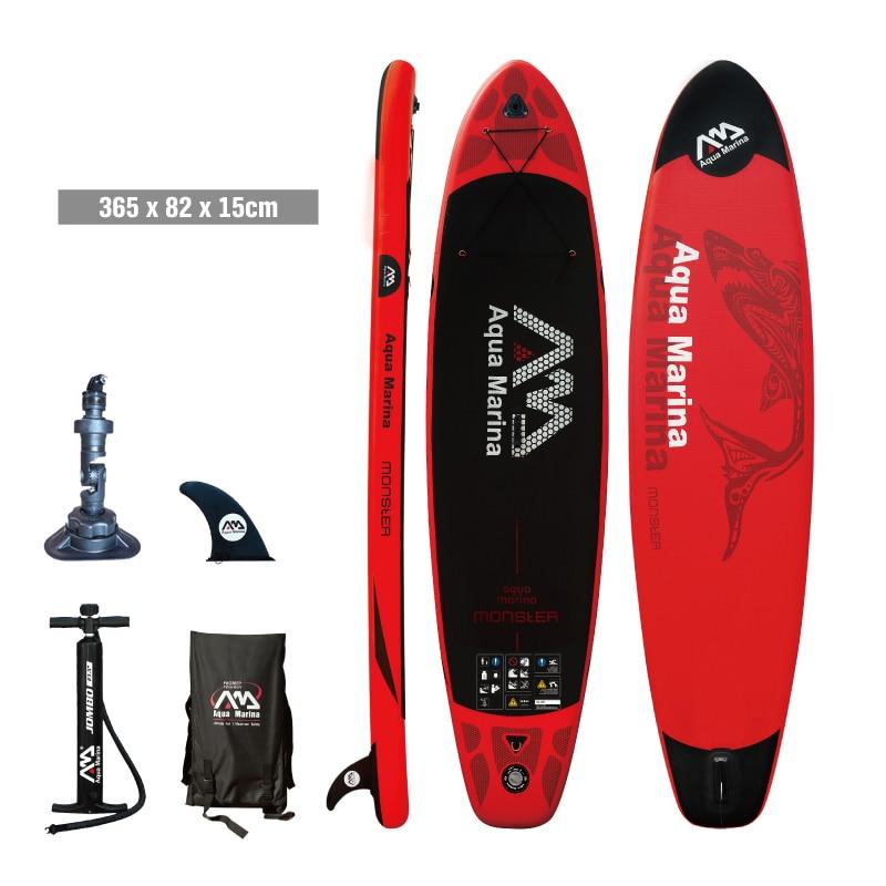 Planche de surf 365*82*15 AQUA MARINA MONSTRE planche de stand up paddle gonflable stand up paddle conseil surf kayak sport bateaux gonflables A01002