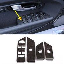 Oak Wood Style Window Lift Switch Button Frame Trim For Land Rover Range Rover Evoque 2012-2017 Car Accessories 4Pcs/set цены