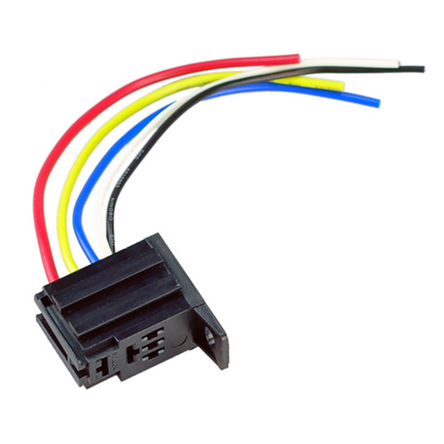 Miraculous 5 Pcs Car Relay Socket 12V 20A 30A 5 Prong 5 Wire Relay Harness Wiring 101 Breceaxxcnl