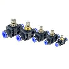 Пневматический Регулятор воздушного потока, 4 мм, 6 мм, 8 мм, 10 мм, 12 мм, OD, шланг, трубка, регулятор потока газа, клапан, соединитель, фитинг, контроль скорости воздуха, кран