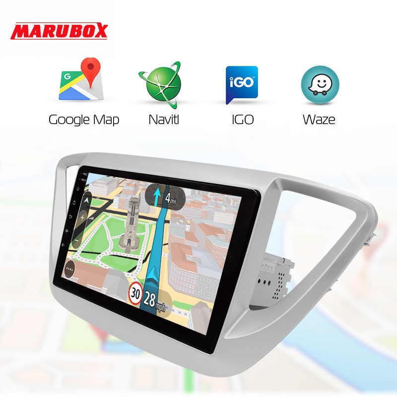 MARUBOX 4G RAM 32G ROM la unidad para HYUNDAI Solaris 2 2017-2018 reproductor Multimedia DSP android 9,0 2 Din Car Radio GPS Navi