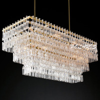 Modern Vintage Crystal Chandelier Rero Cristal Chandeliers Light Fixture Hotel Restaurant Living Dining Room Chandelier Lamps