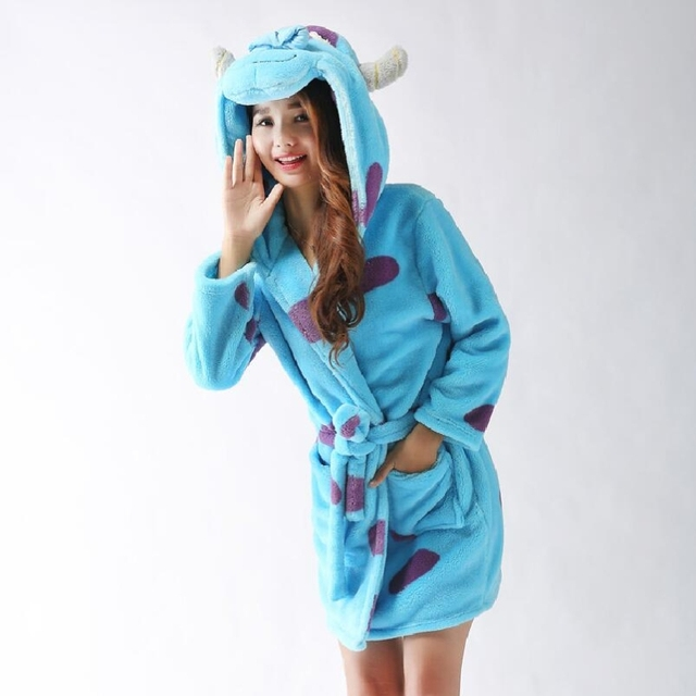 Sully Pajama Nightgrown Towel Bath Robe Animal Hooded Robes For ...