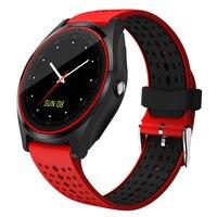Hiwego V9 Смарт часы с Камера Bluetooth Смарт часы сим карта наручные часы для телефона Android Носимых устройств pk dz09 A1 gt08