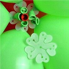 10pcs Wedding room Decoration supplies Balloon plum clip Double/single balloon buckle shape accessories