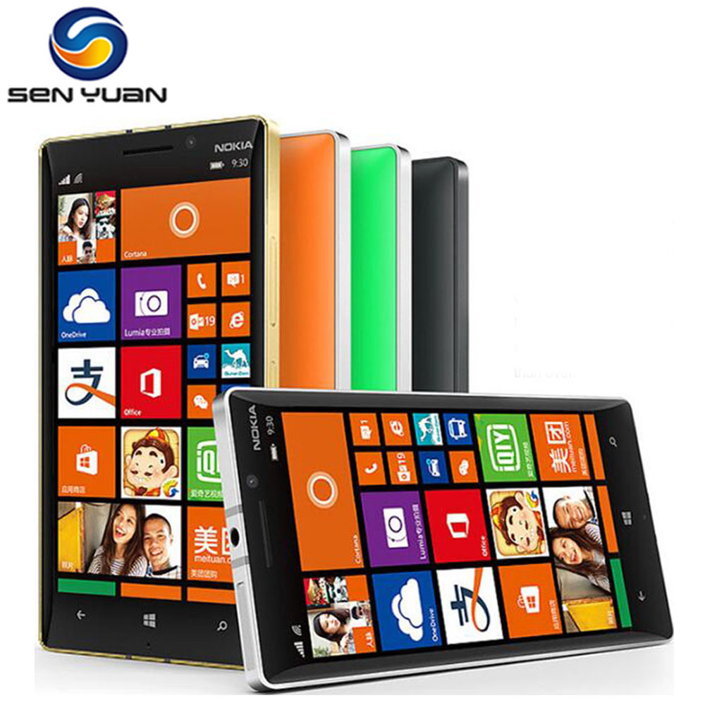Nokia Lumia 930 Original Cell-Phone 32GB GSM 20MP Refurbished Touch-Screen 2GB-RAM 5-4G
