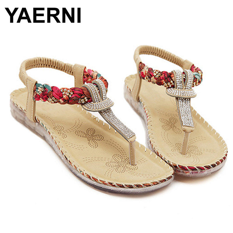 fashion pom pom new designer sandals cross tied bohemian hairball flat sandals women shoes tassel lace up mixed colors national YAERNI Flat shoes Women 2017 new summer national wind sandals Bohemian diamond big size shoes beach shoes Flip-Flops BT538
