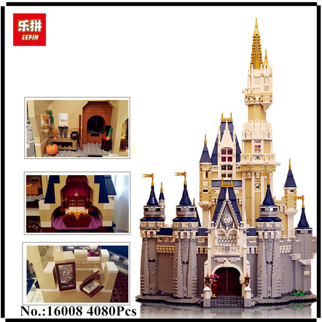 LEPIN 16008 Creator Cinderella Princess Castle City 4080pcs Model Building Block Kid Toy Gift Compatible 71040 lepine 16008 cinderella princess castle 4080pcs model building block toy children christmas gift compatible 71040 girl lepine