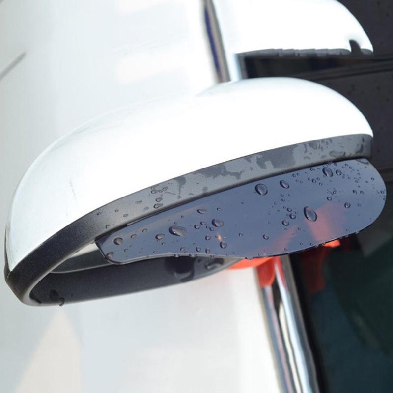 2pcs Black Universal Car Rear View Side Mirror Rain Board Sun Visor Shade Shield