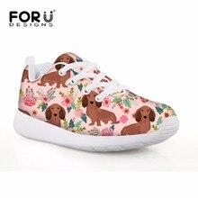 FORUDESIGNS/детская обувь спортивная обувь такса собака печати обувь для детей мальчиков и девочек Футбол сапоги легкая обувь