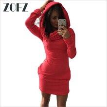 ZOFZ Women Dress Bodycon Sexy Dress Spring Fashion Hoodie Cotton Bag Hip Dress Casual Slim Long Sleeve Warm Pencil Dress Vestido
