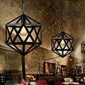 Подвесной светильник из кованого железа  винтажный промышленный светильник для офиса  отеля  кухни  острова  светодиодный черный светильни...