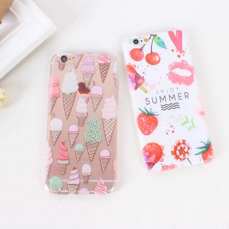 Color Macarons cake Design Fashion soft TPU Phone Cases For iPhone 6 6s TPU Fundas Cover for iPhone SE 5 5s 5G phone bags (9)