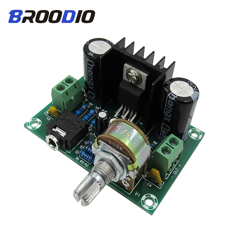 TDA2030A Audio Amplifier Board Mono 18W Power Amplifiers DIY DC/AC 12V For Sound System Speaker Home Theater