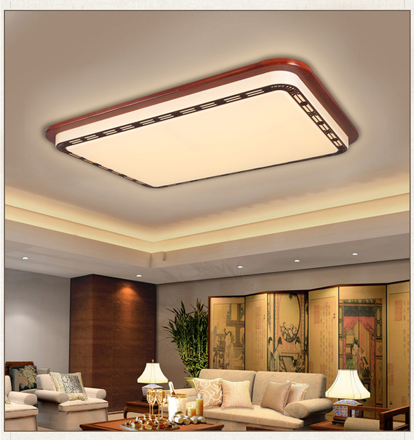 New Chinese Ceiling Lamp Wood Carving Acrylic High End Living Room