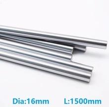 4 шт./партия 16 мм линейный вал 1500 мм Длинный 16×1500 мм твердый стержень вала бар для станка с ЧПУ стальной стержень