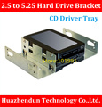 High Quality    2.5 inch to 5.25 inch Hard Drive Bracket  CD Driver Tray Hard Drive Tray  Desktop Notebook SSD Conversion